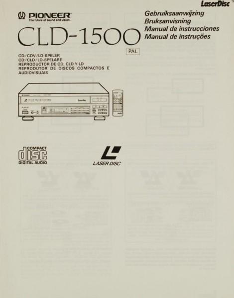 Pioneer CLD-1500 Bedienungsanleitung
