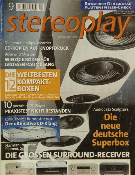 Stereoplay 9/2000 Zeitschrift