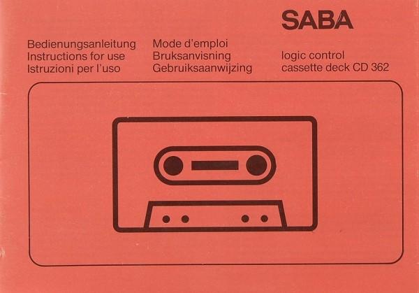 Saba CD 362 Bedienungsanleitung