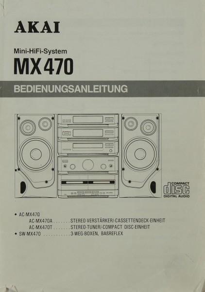 Akai MX 470 Bedienungsanleitung