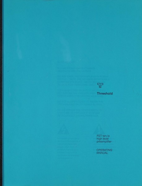 Threshold FET ten/e Bedienungsanleitung