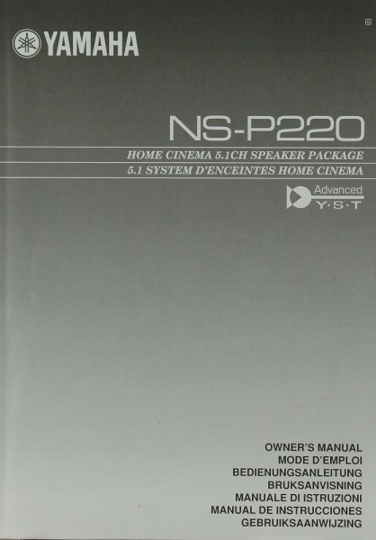 Yamaha NS-P 220 Bedienungsanleitung