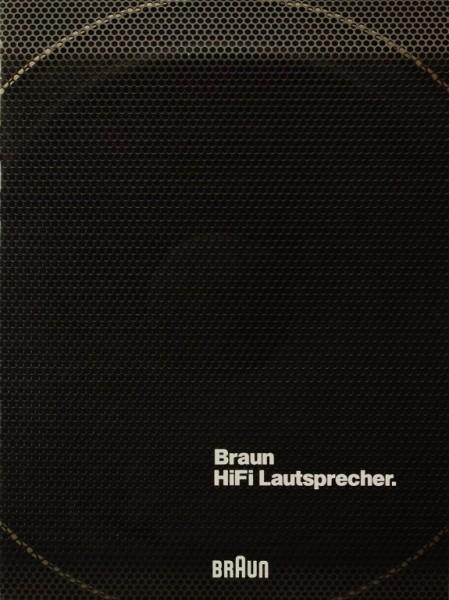Braun HiFi Lautsprecher Prospekt / Katalog