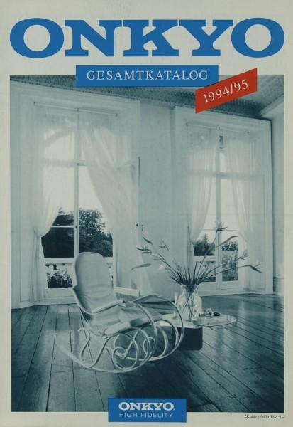 Onkyo Gesamtkatalog 1994/95 Prospekt / Katalog