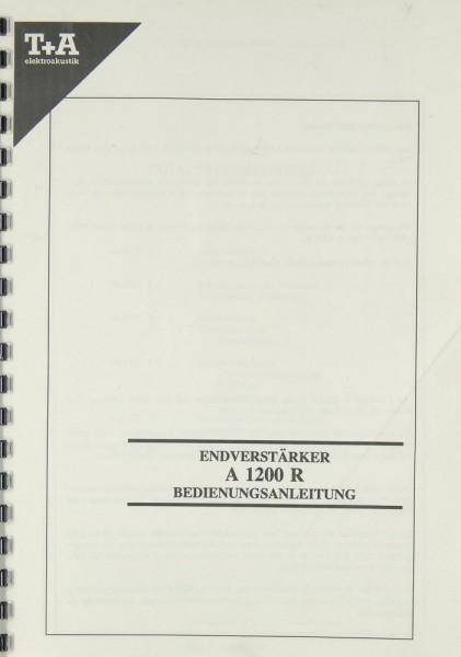 T + A PULSAR A 1200 R Bedienungsanleitung