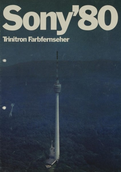 Sony Sony ´80 / Trinitron Farbfernseher Prospekt / Katalog