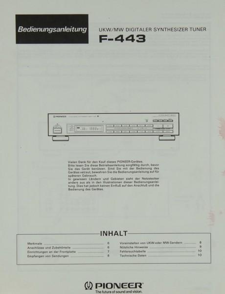 Pioneer F-443 Bedienungsanleitung