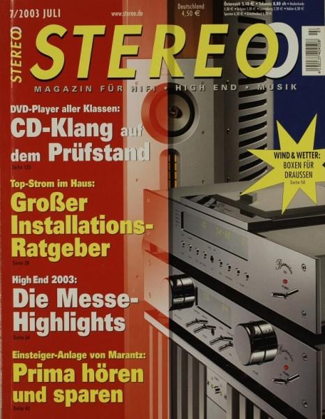 Stereo 7/2003 Zeitschrift