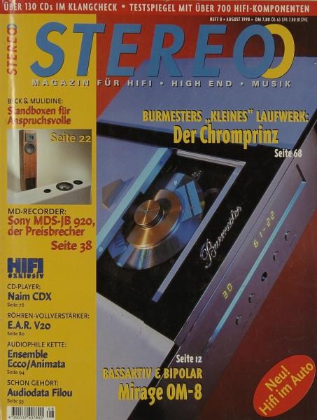 Stereo 8/1998 Zeitschrift
