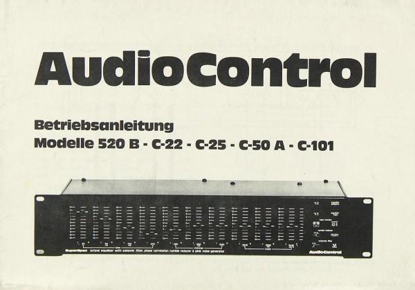 Audio Control 520 B / C-22 / C-25 / C-50 A / C-101 Bedienungsanleitung