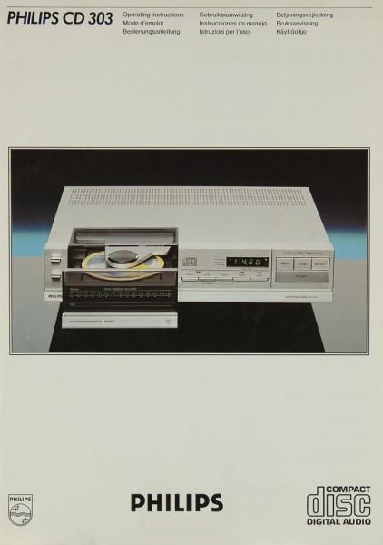 Philips CD 303 Bedienungsanleitung
