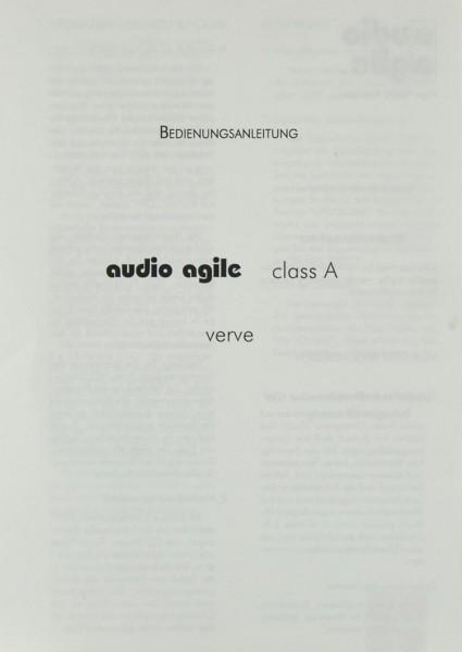 Audio Agile Verve Bedienungsanleitung