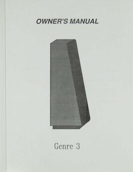 Genesis Genre 3 Bedienungsanleitung