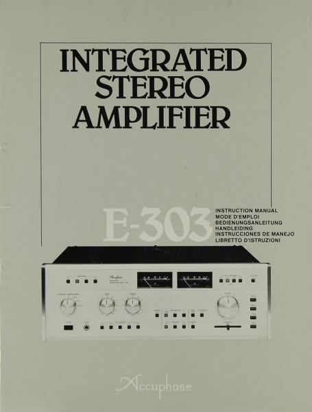 Accuphase E-303 Bedienungsanleitung