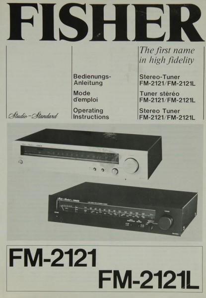 Fisher FM-2121 / FM-2121L Bedienungsanleitung