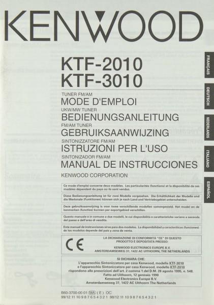 Kenwood KTF-2010 / KTF-3010 Bedienungsanleitung