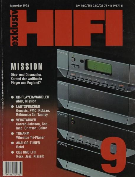 Hifi Exklusiv 9/1994 Zeitschrift