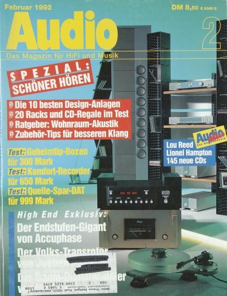 Audio 2/1992 Zeitschrift