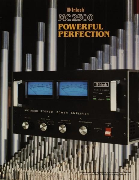 McIntosh MC 2500 Prospekt / Katalog