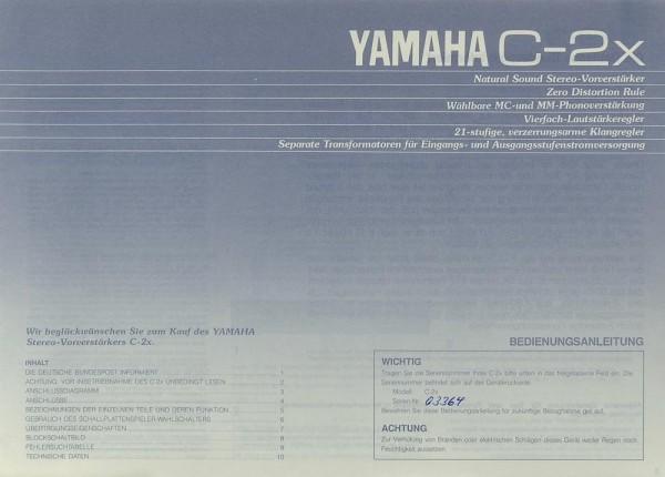 Yamaha C-2x Bedienungsanleitung