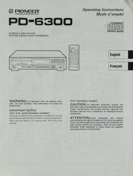 Pioneer PD-6300 Bedienungsanleitung
