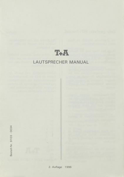 T + A Lautsprecher Manual Bedienungsanleitung