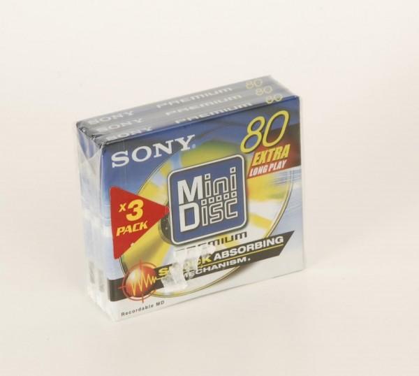 Sony MDW-80D Premium Minidisc 3er Pack NEU!