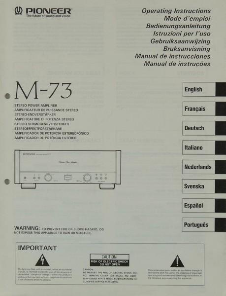 Pioneer M-73 Bedienungsanleitung