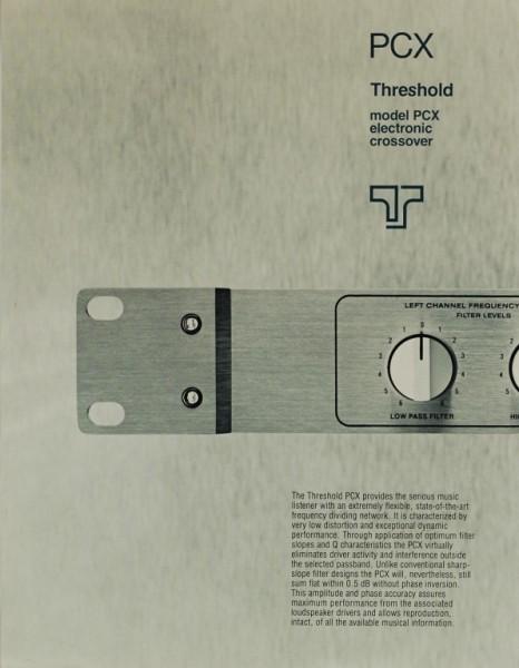 Threshold PCX Prospekt / Katalog