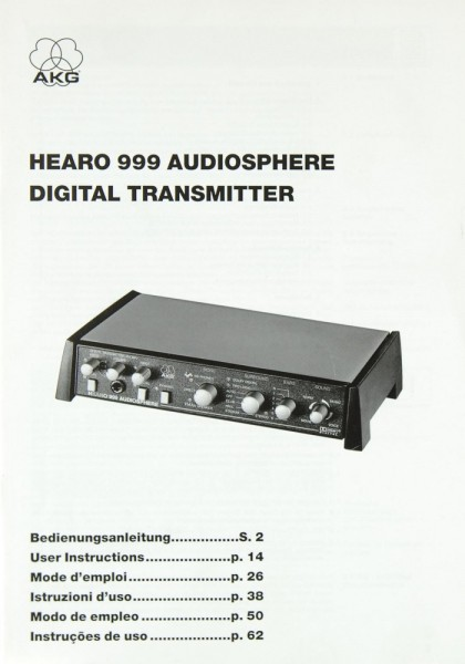 AKG Hearo 999 Audiosphere Bedienungsanleitung