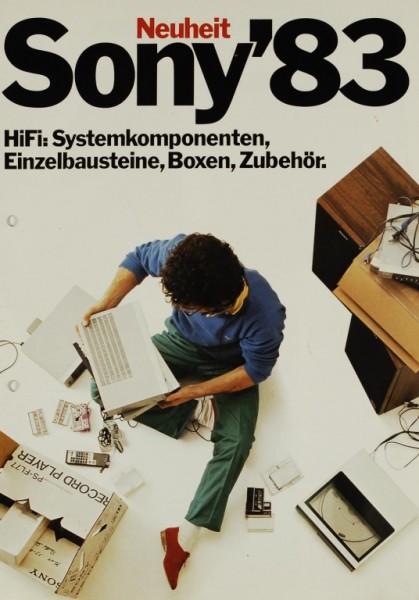 Sony Sony ´83 - HiFi Systemkomponenten u.a. Prospekt / Katalog