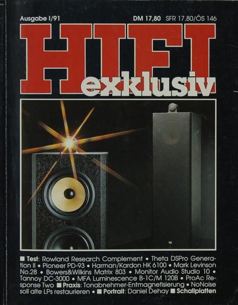 Hifi Exklusiv I / 91 Zeitschrift