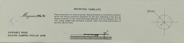 Mayware Mk IV - Mounting Template Justageschablone