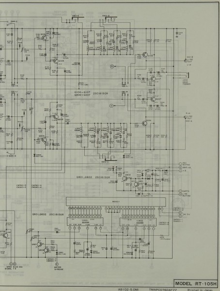 Sharp RT-105 H Schaltplan / Serviceunterlagen
