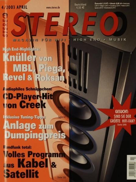 Stereo 4/2003 Zeitschrift