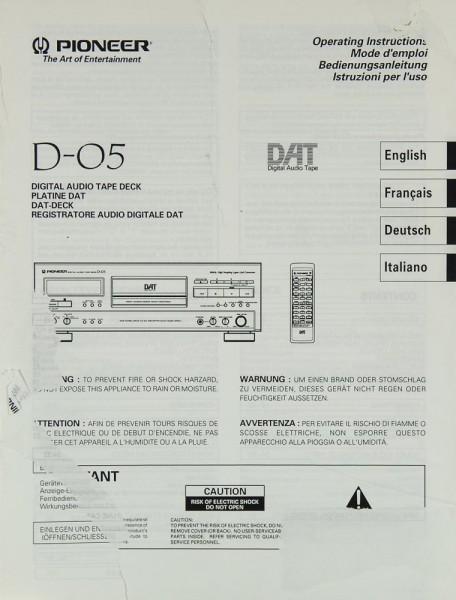 Pioneer D-05 Bedienungsanleitung