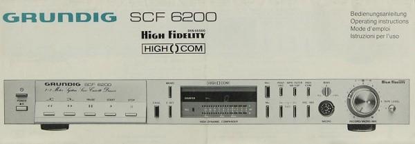 Grundig SCF 6200 Bedienungsanleitung
