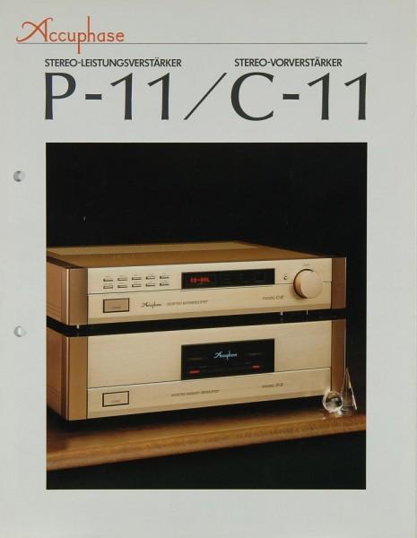 Accuphase P-11 / C-11 Prospekt / Katalog