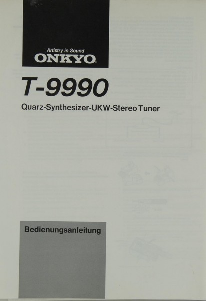 Onkyo T-9990 Bedienungsanleitung