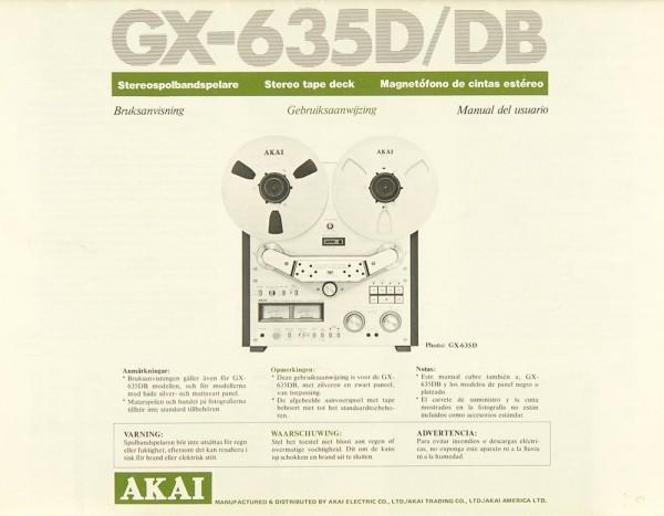 Akai GX-635 D / GX-635 DB Bedienungsanleitung