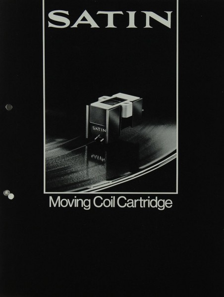 Satin Moving Coil Cartridge Prospekt / Katalog
