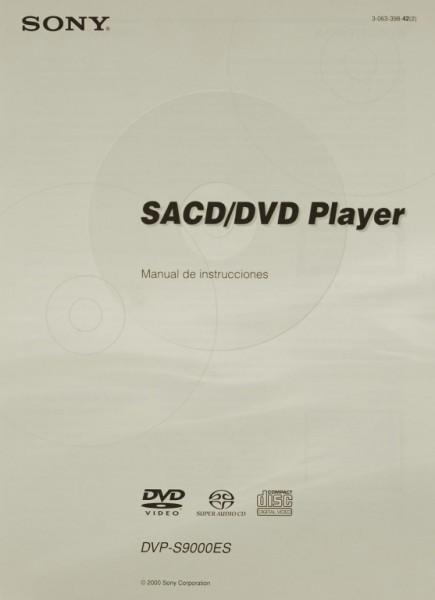 Sony DVP-S 9000 ES Bedienungsanleitung