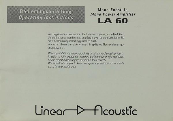 Linear Acoustic LA 60 Bedienungsanleitung