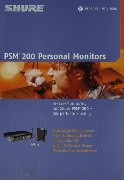 Shure PSM 200 Personal Monitors Prospekt / Katalog