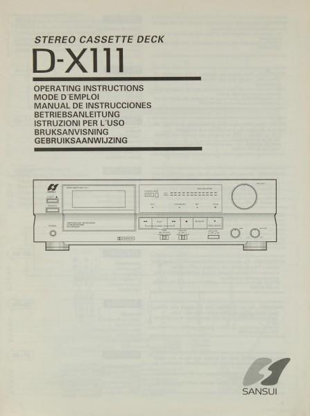 Sansui D-X 111 Bedienungsanleitung