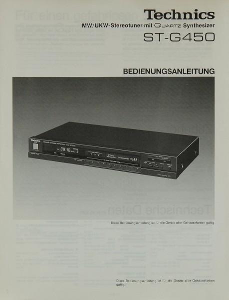 Technics ST-G 450 Bedienungsanleitung