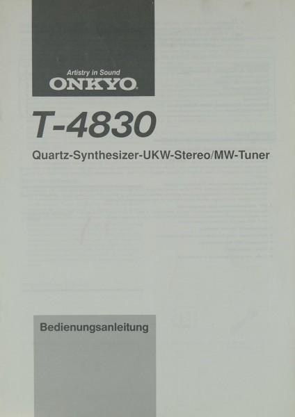 Onkyo T-4830 Bedienungsanleitung