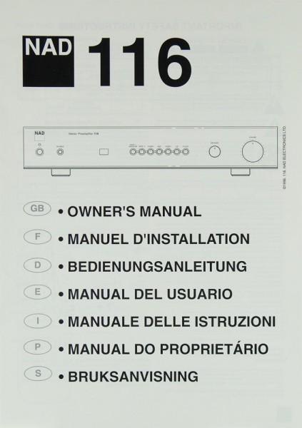 NAD 116 Bedienungsanleitung