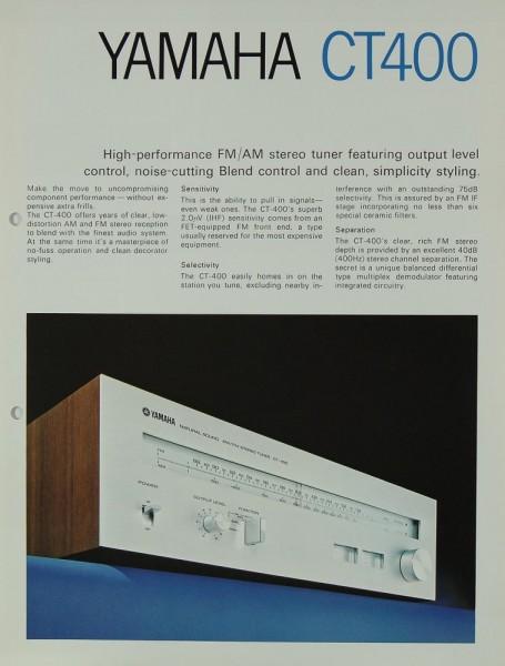 Yamaha CT 400 Prospekt / Katalog