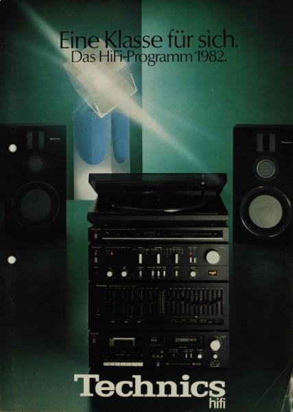 Technics Eine Klasse für sich. Das HiFi Programm 1982. Prospekt / Katalog